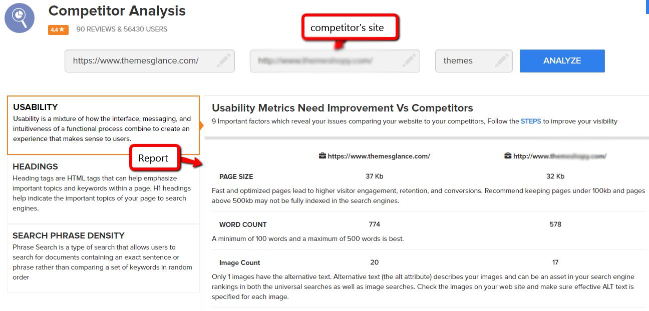 competitors comparison