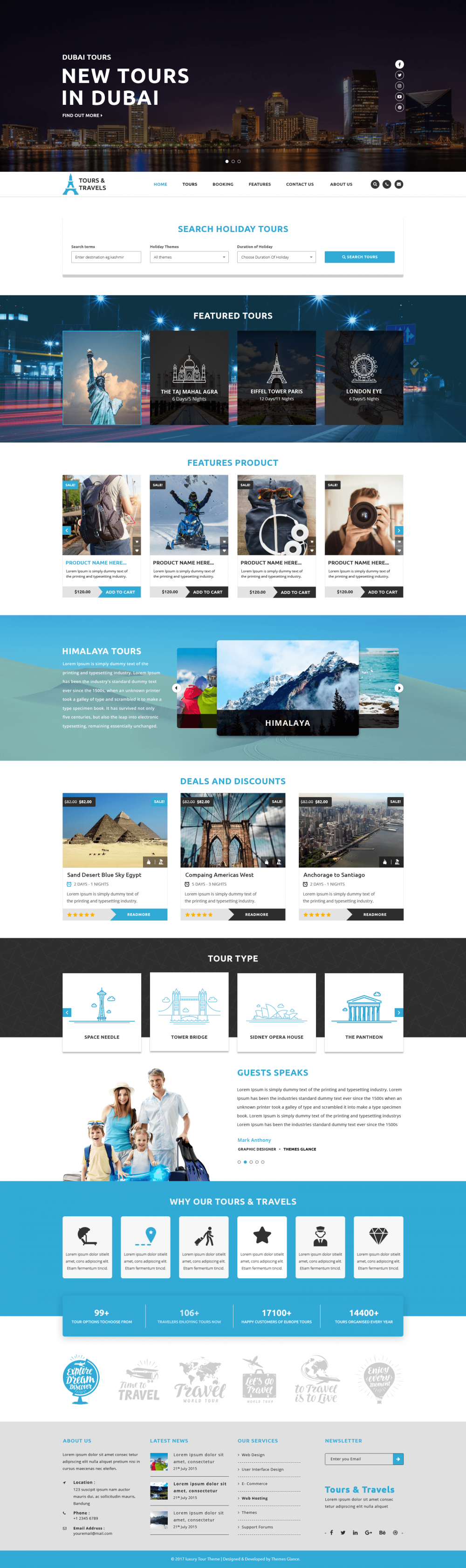 Premium Travel Agency Wordpress Theme