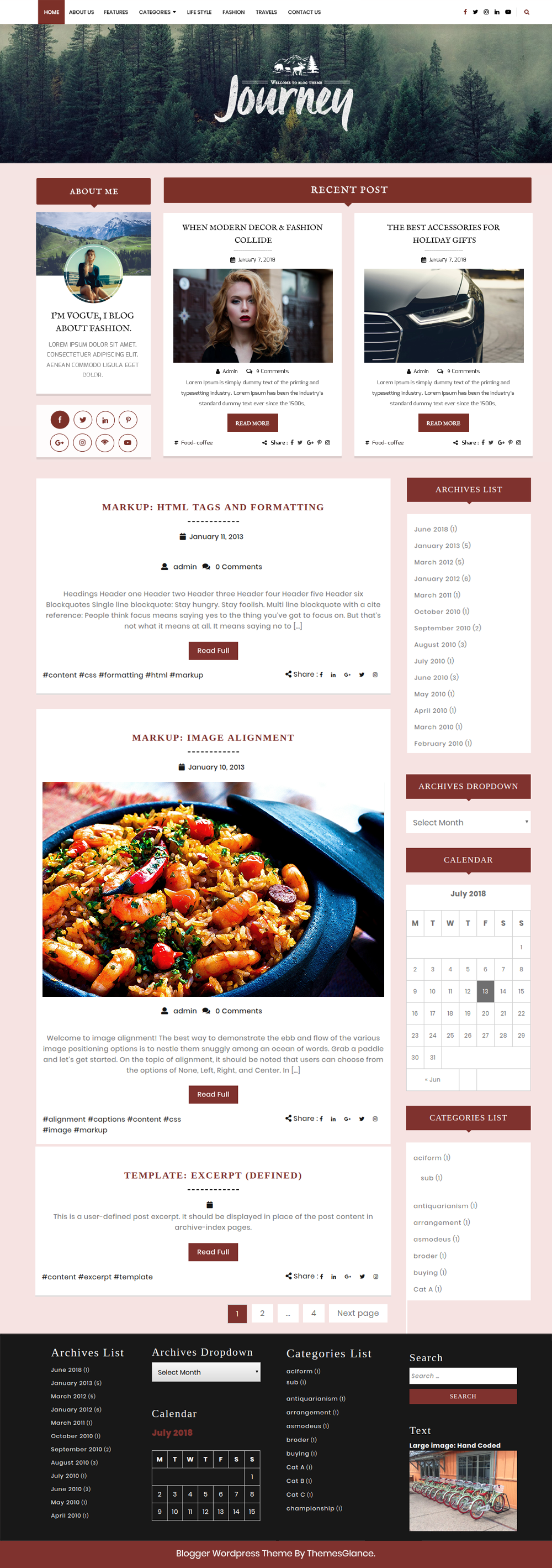 Free Blog WordPress Theme