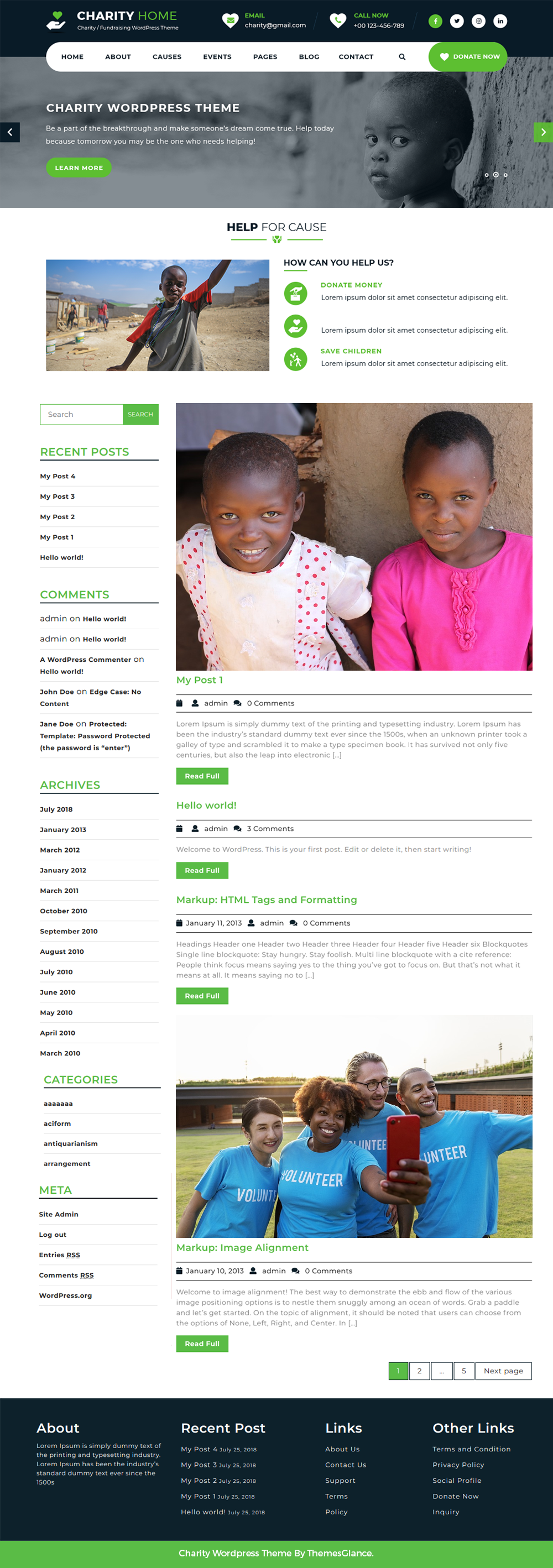 free-charity-wordpress-theme