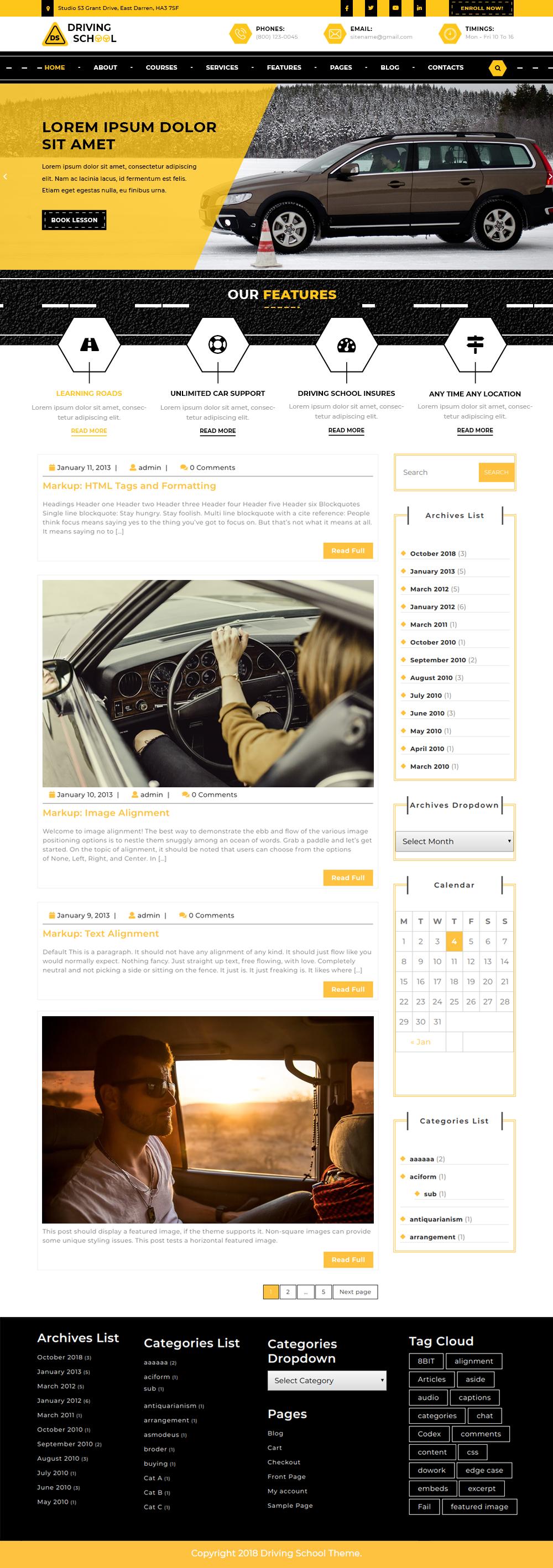 free-driving-school-wordpress-theme