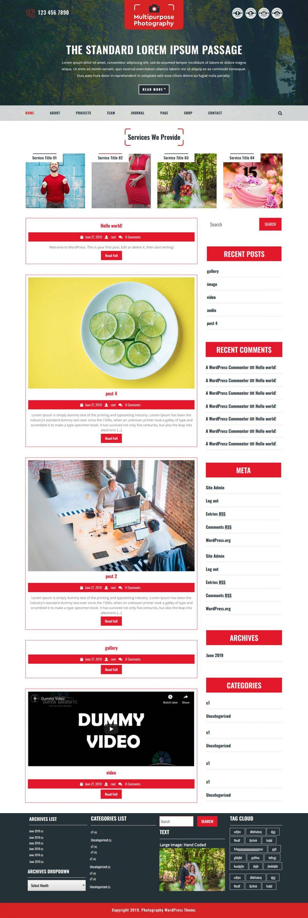Free WordPress Photography Themes