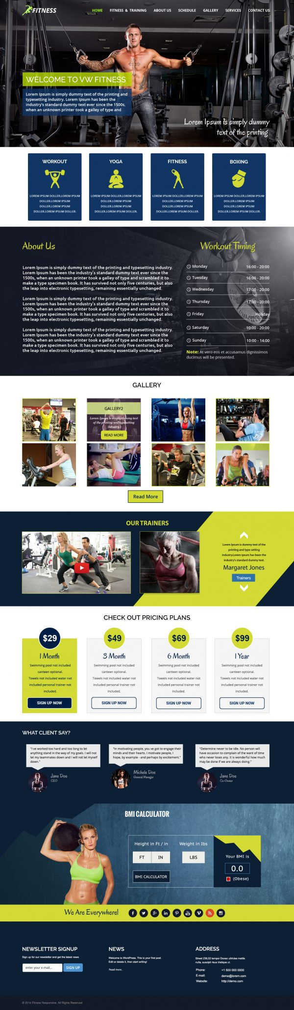Fitness-WordPress-Theme