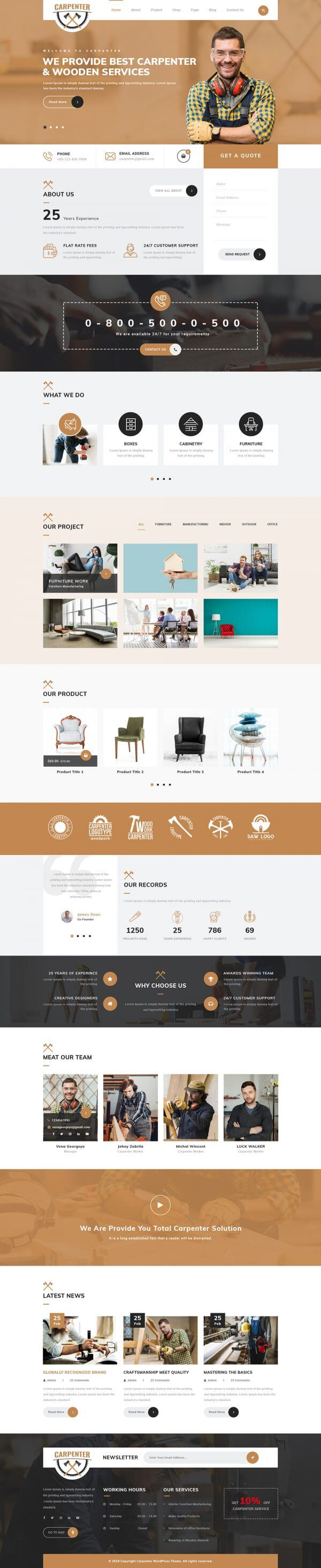 Carpenter WordPress Theme