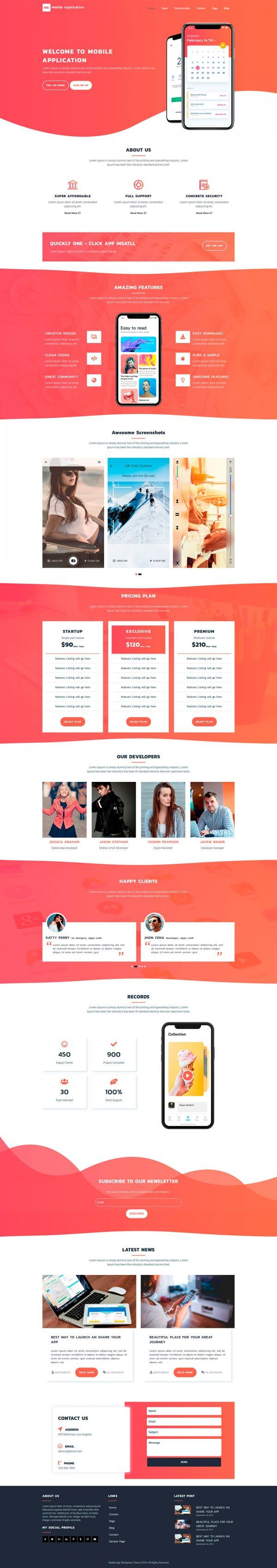 Mobile-App-WordPress-Theme