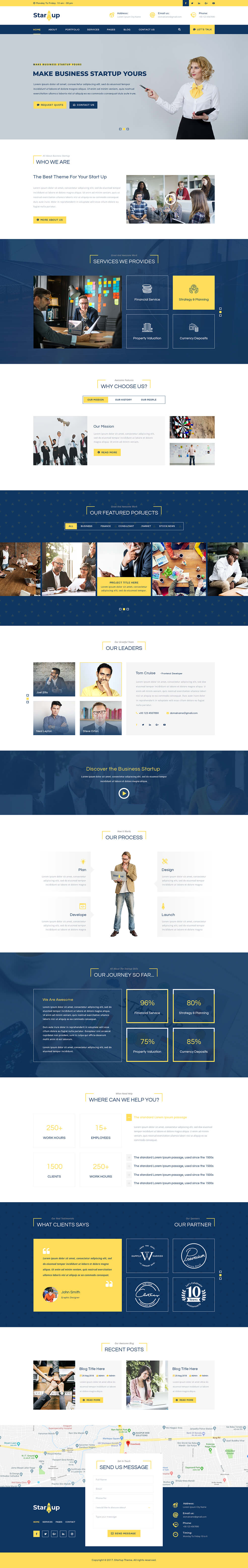 Multipurpose Startup WordPress Theme