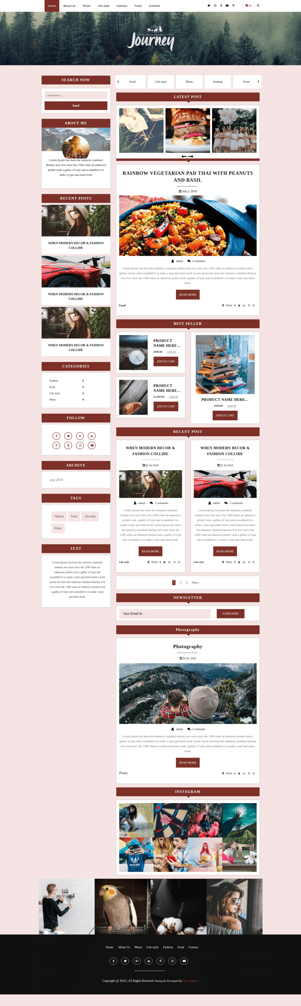 Premium Blog WordPress Theme
