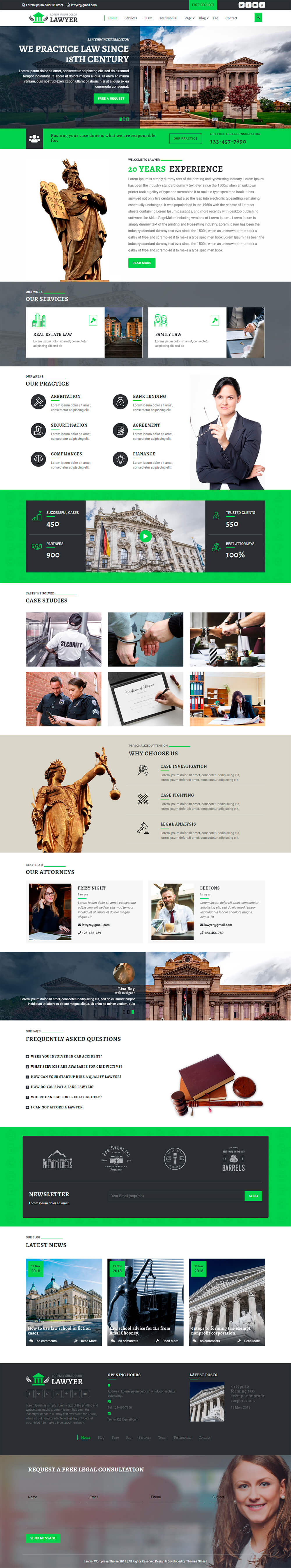 Premium Lawyer WordPress Theme