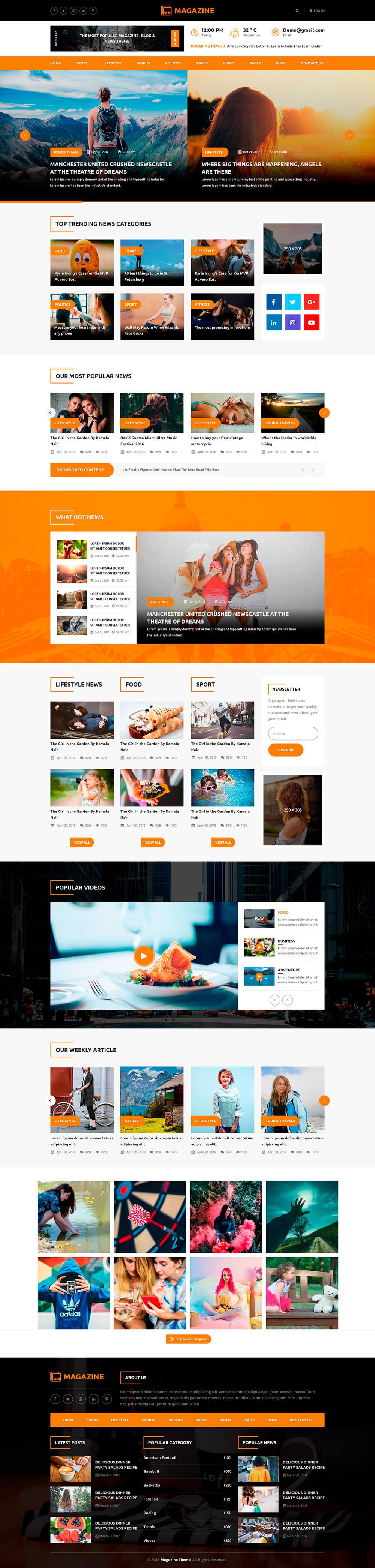 Premium Magazine WordPress Theme