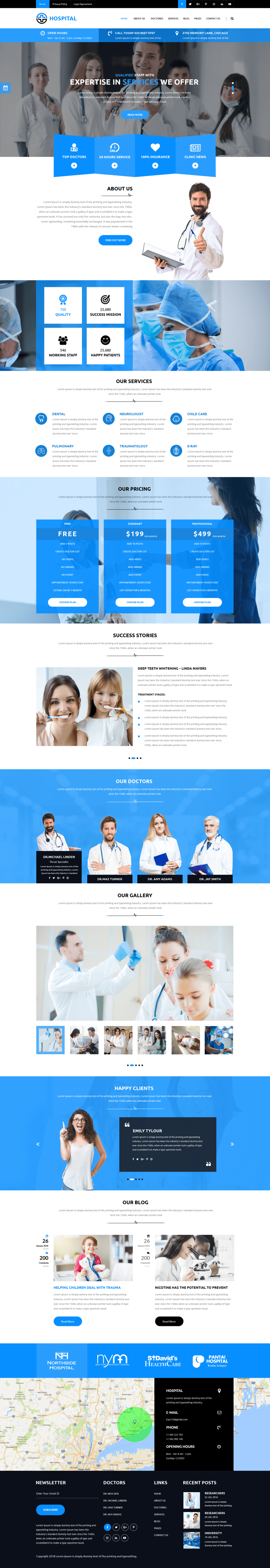 Premium Medical WordPress Theme