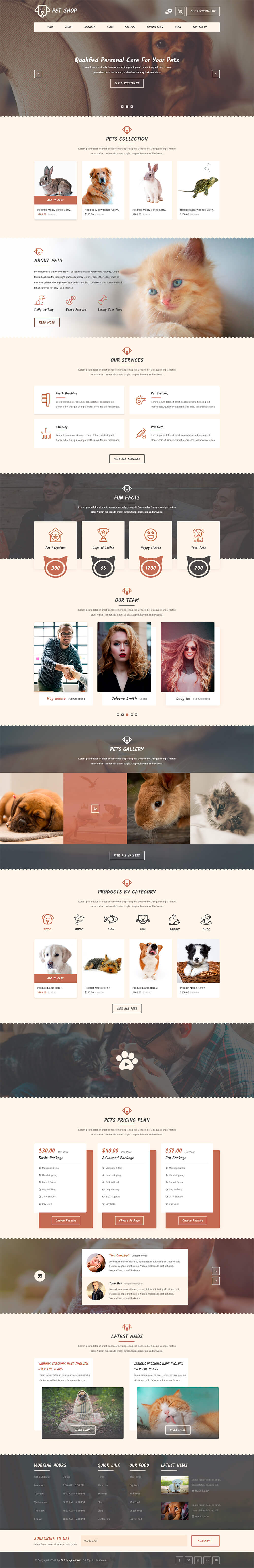 Premium Veterinary Pet WordPress Theme