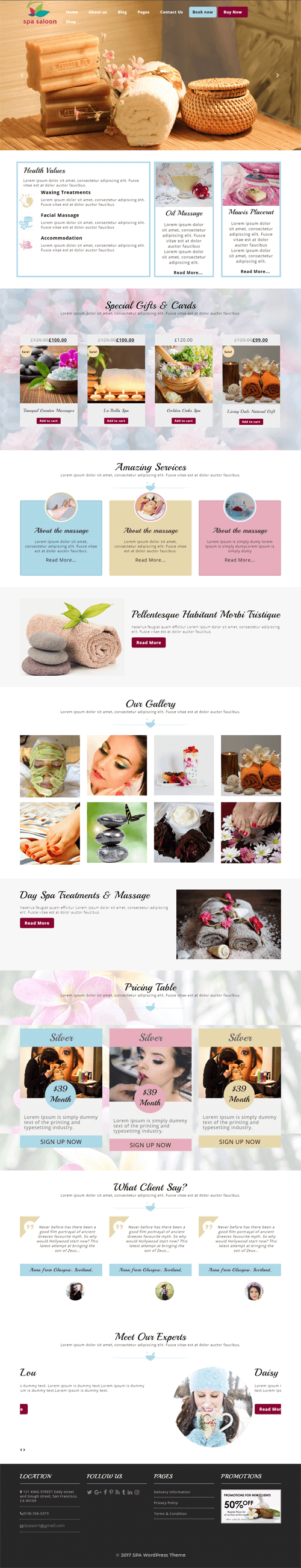 Spa-WordPress-Theme