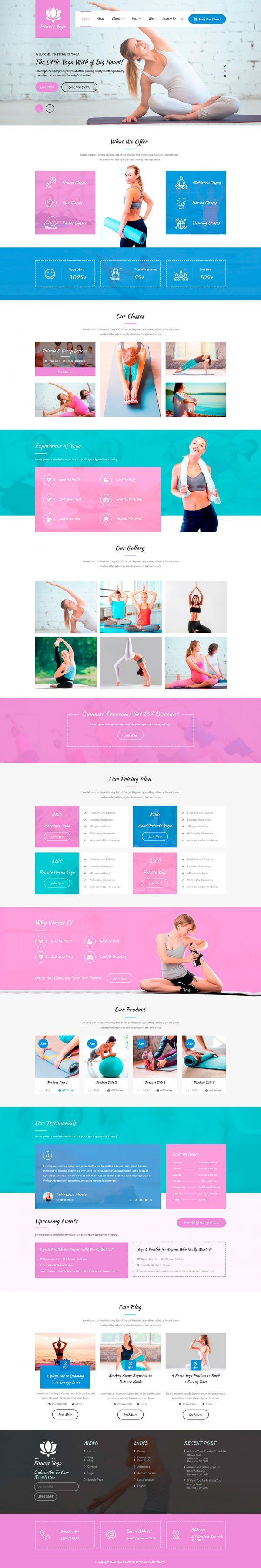 Yoga-WordPress-Theme